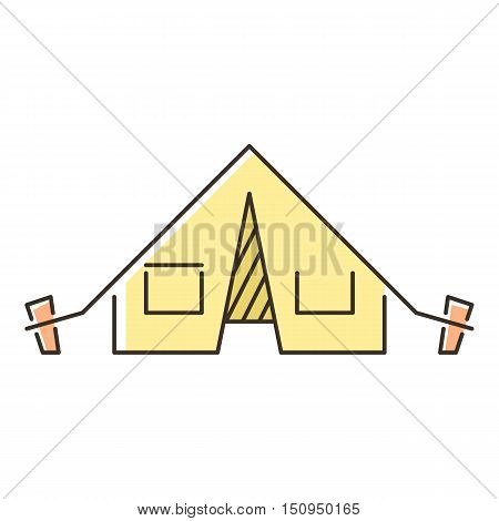 Tent icon. Flat illustration of tent vector icon for web.