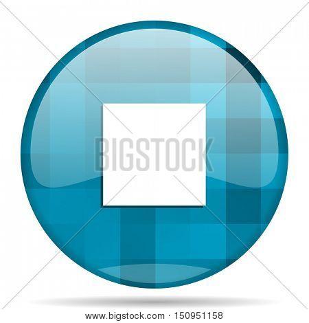 stop blue round modern design internet icon on white background