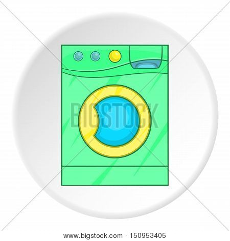Green washer icon. Cartoon illustration of green washer vector icon for web