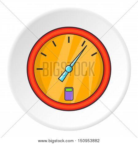 Speedometer icon. Cartoon illustration of speedometer vector icon for web