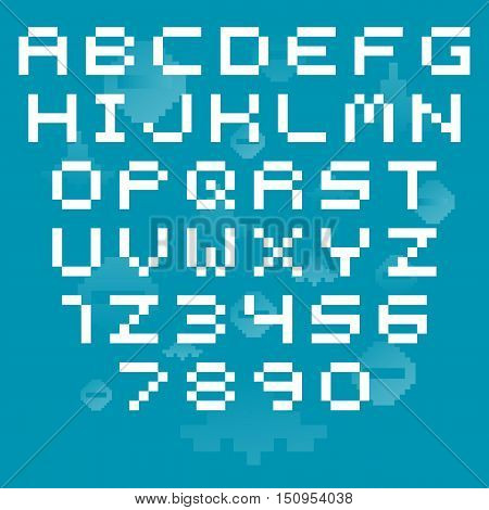 Video game pixel font. Vector alphabet. abc