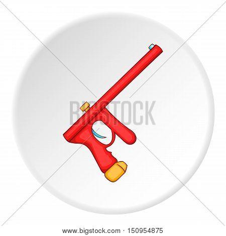 Paintball gun icon. Cartoon illustration of paintball gun vector icon for web