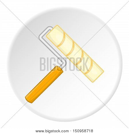 Paint roller icon. Cartoon illustration of paint roller vector icon for web