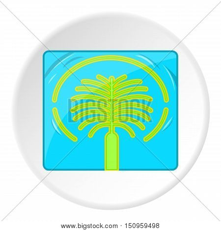 Artificial islands in UAE icon. Cartoon illustration of artificial islands in UAE vector icon for web