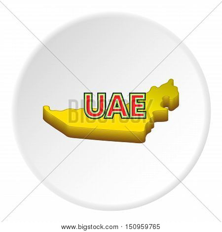 Map of UAE icon. Cartoon illustration of map of UAE vector icon for web