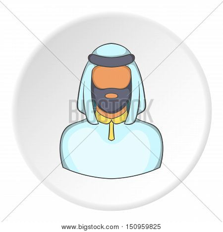 Male arab icon. Cartoon illustration of male arab vector icon for web