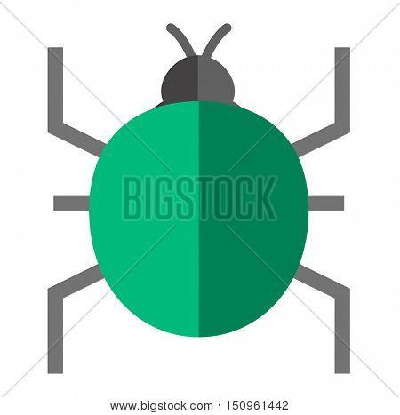 Computer bug viruses vector
