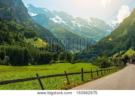 Jungfrau Famous Switzerland Region in the Swiss Alps.