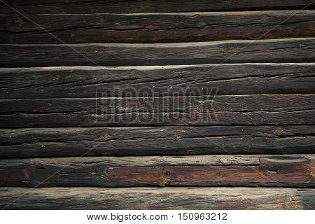 Log Home Wall Background. Vintage Logs Backdrop.