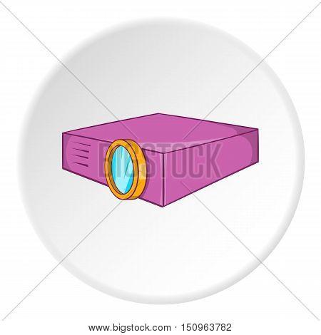 Projector icon. Cartoon illustration of projector vector icon for web
