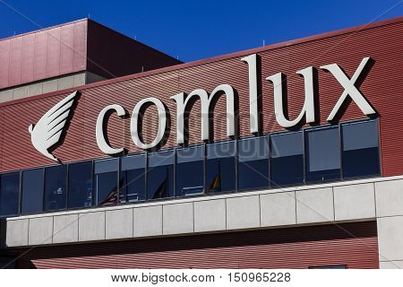 Indianapolis - Circa October 2016: Comlux America Headquarters. Comlux is a Corporate Charter Airline II