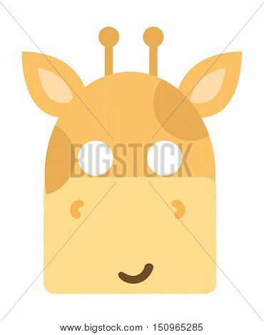 Animals carnival mask vector festival decoration masquerade. Party costume cute cartoon animal carnival mask. Festival head decoration isolated celebration animal carnival mask.