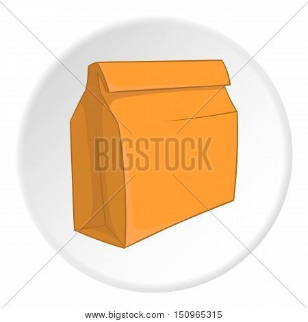 Paper bag icon. Cartoon illustration of paper bag vector icon for web