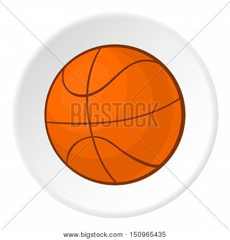 Basketball icon. Cartoon illustration of basketball vector icon for web