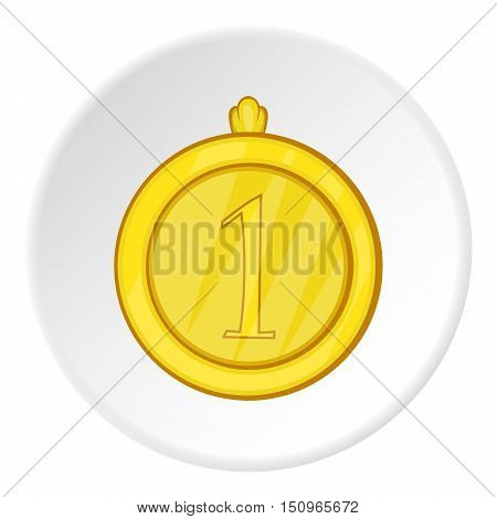 Medal for first place icon. Cartoon illustration of medal for first place vector icon for web