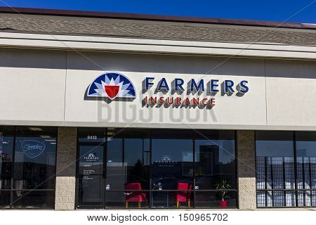 Indianapolis - Circa October 2016: Farmers Insurance Group Agent Location. Farmers Provides Home, Li