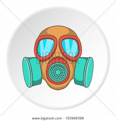 Gas mask icon. Cartoon illustration of gas mask vector icon for web