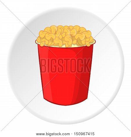 Popcorn icon. Cartoon illustration of popcorn vector icon for web