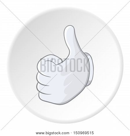 Thumbs up icon. Cartoon illustration of thumbs up vector icon for web