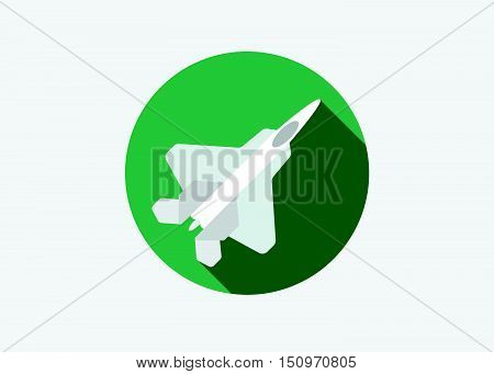 Aircraft Or Airplane Icon Flat Minimal Vector Silhouette