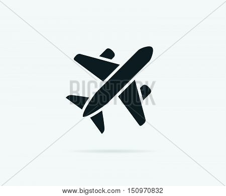Aircraft or Airplane Icon Vector Silhouette eps 10