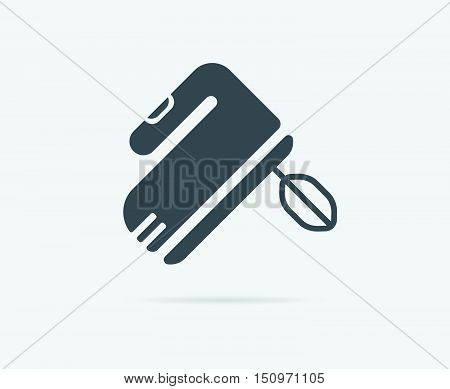 Hand Speed Mixer Vector Element Or Icon, Illustration Ready For Print Or Plotter Cut Or Using As Log