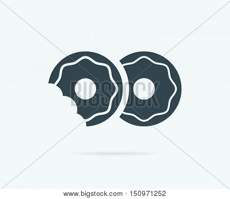 Donuts With Glaze Topping Vector Element Or Icon, Illustration Ready For Print Or Plotter Cut Or Usi