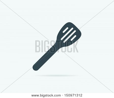 Kitchen Spatula Spoon Vector Element Or Icon, Illustration Ready For Print Or Plotter Cut Or Using A