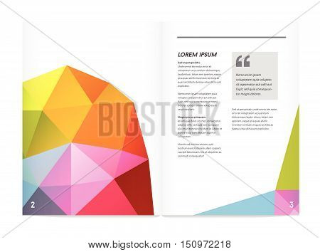 Visual Identity With Letter Logo Elements Polygonal Style Letterhead And Geometric Triangular Design