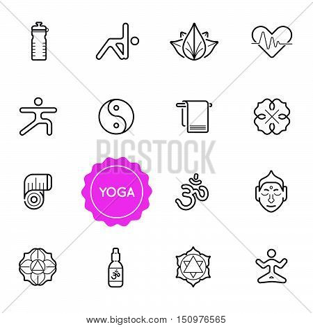 Set Of Yoga Vector Illustration Elements Can Be Used As Logo Or Icon In Premium Quality