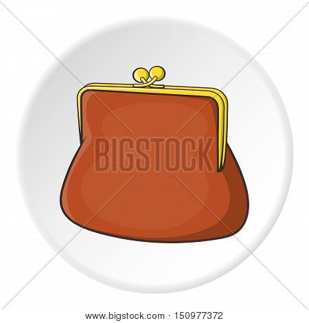 Womens wallet icon. Cartoon illustration of womens wallet vector icon for web