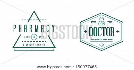 Medicine Health Vector Symbols Icons Can Be Used As Logotype Element Or Icon, Illustration Ready For