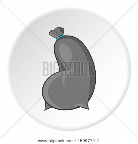 Trash bag icon. Cartoon illustration of trash bag vector icon for web