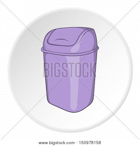 Toilet trash icon. Cartoon illustration of toilet trash vector icon for web