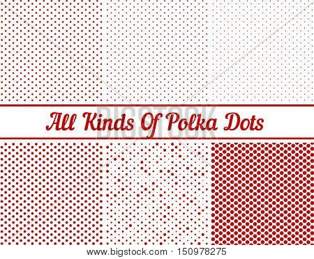 Polka Dot Round Background Set eps 10