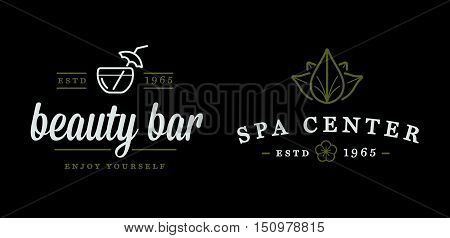Set Of Vector Spa Beauty Yoga Sport Elements Illustration Can Be Used As Logo Or Icon In Premium Qua