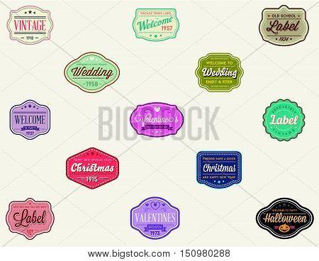 Vector Set Of Vintage Retro Styled Premium Design Labels