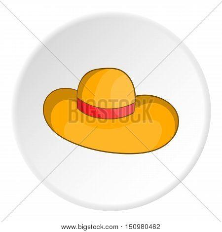 Women beach hat icon. Cartoon illustration of women beach hat vector icon for web