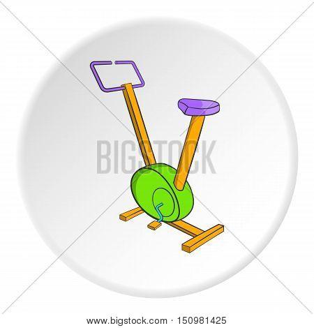 Fitness bike icon. Cartoon illustration of fitness bike vector icon for web