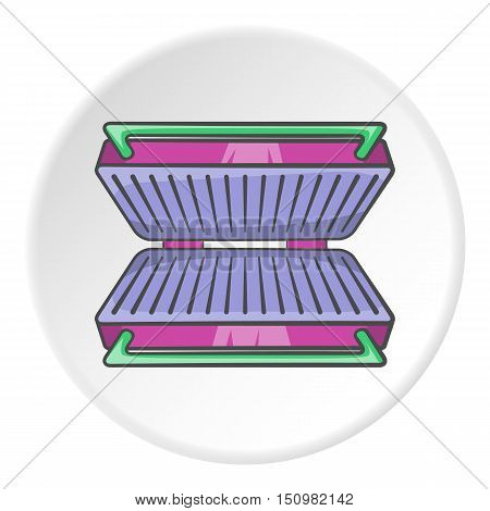 Electric grill icon. Cartoon illustration of electric grill vector icon for web