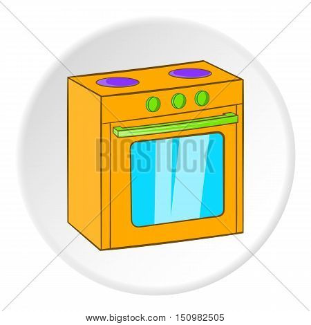Gas stove icon. Cartoon illustration of gas stove vector icon for web