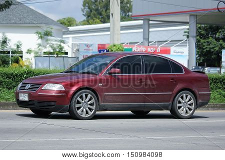 CHIANGMAI THAILAND - OCTOBER 2 2016: Private Car Volkswagen Passat. On road no.1001 8 km from Chiangmai city.