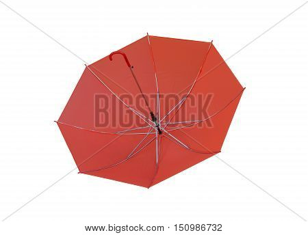 Red Umbrella isolated on white background and have clipping paths to easy deployment.