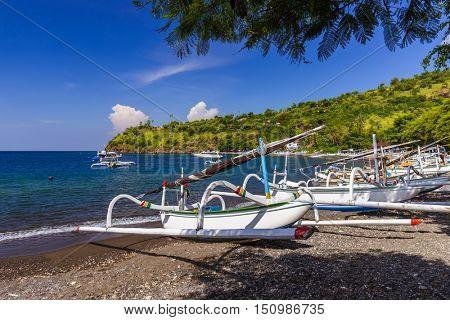 Amed Beach - Bali Island Indonesia - nature travel background
