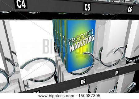 Product Marketing Vending Snack Machine Advertise 3d Illustration