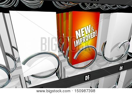New and Improved Product Snack Machine Better Update 3d Illustration