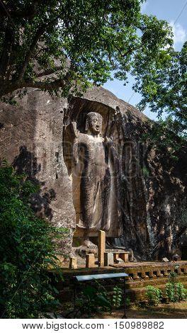 Raswehera statue is a unfinished Buddha statue of Sri Lanka.