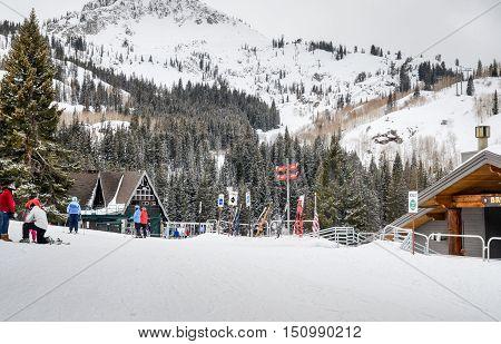 Ski Resort In Utah. Usa