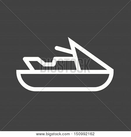 Jet, water, speed icon vector image. Can also be used for vehicles. Suitable for mobile apps, web apps and print media.