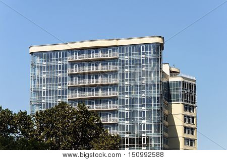 Odessa, Ukraine - September 04, 2016: Modern high-rise building